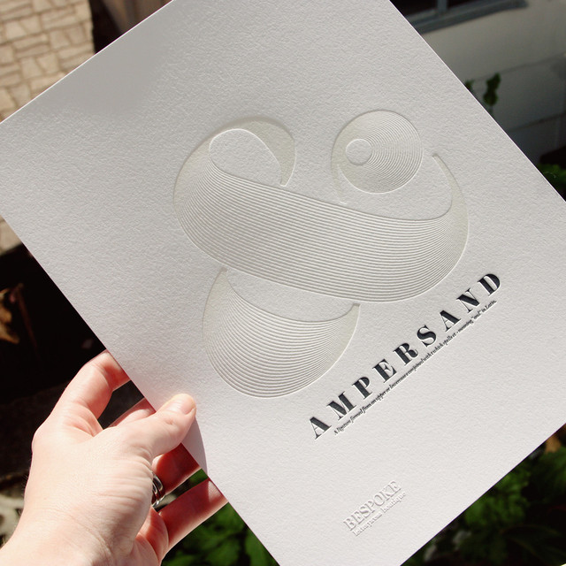 Letterpress Ampersand Study by Bespoke Press contemporary artwork