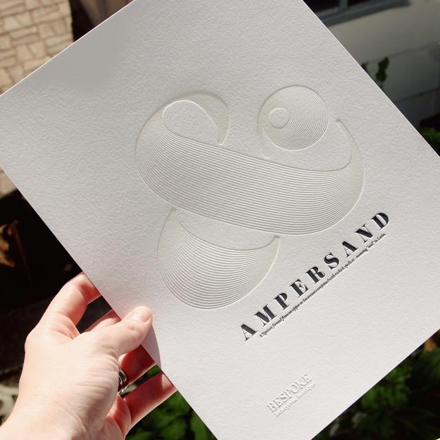 Letterpress Ampersand Study by Bespoke Press contemporary-artwork
