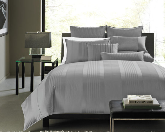Hotel Collection Bedding, Classic Stripe - 5-star line up! The Hotel Collection Classic Stripe Collection posses a uniform look with a multitude of linear patterns that span the length of your bed. Quilted components, metallic accents and grosgrain details provide extra dimension. Available in 3 colors (frost, grey or champagne) Available in 4 sizes: Twin, Queen, King, California King. Only at Macy's.