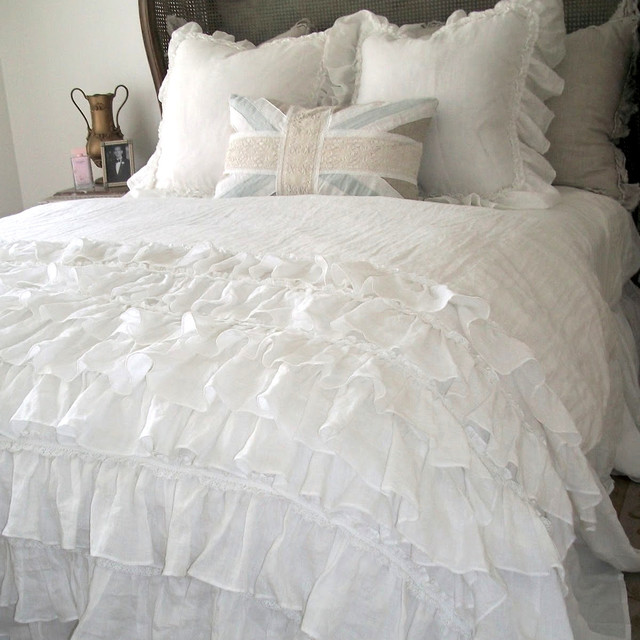 Lily Ruffle Duvet Farmhouse Duvet Covers And Duvet Sets other metro b