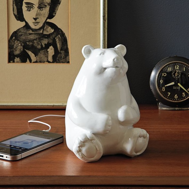 Ceramic Bear Speaker eclectic home electronics