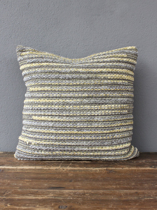 milo pillow – grey - view this item on our website for more information + purchasing availability: http://redinfred.com/shop/category/detail/throw-pillows/milo-pillow-grey/
