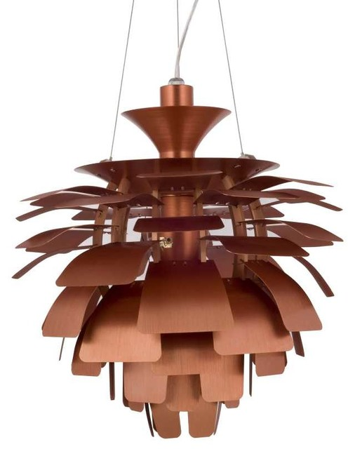 "Petal 24"" Chandelier in Copper modern-chandeliers"