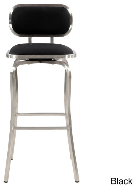 Modern Stainless Steel Swivel Bar Stool Contemporary