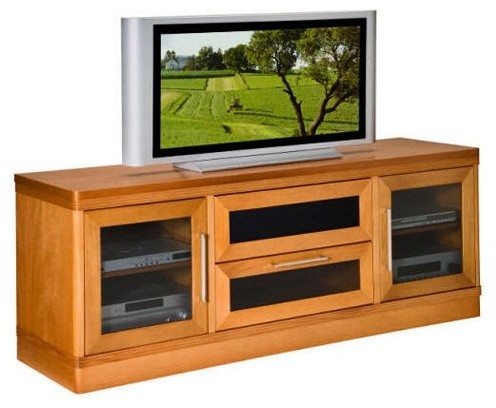 Furnitech Transitional 70 Inch TV Stand traditional-media-storage