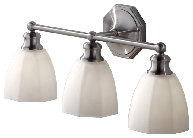 Murray Feiss VS23003-BS Nella Transitional Bathroom / Vanity Light contemporary-bathroom-vanity-lighting