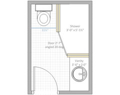 Need help with bathroom layout for Bathroom designs 6 x 4