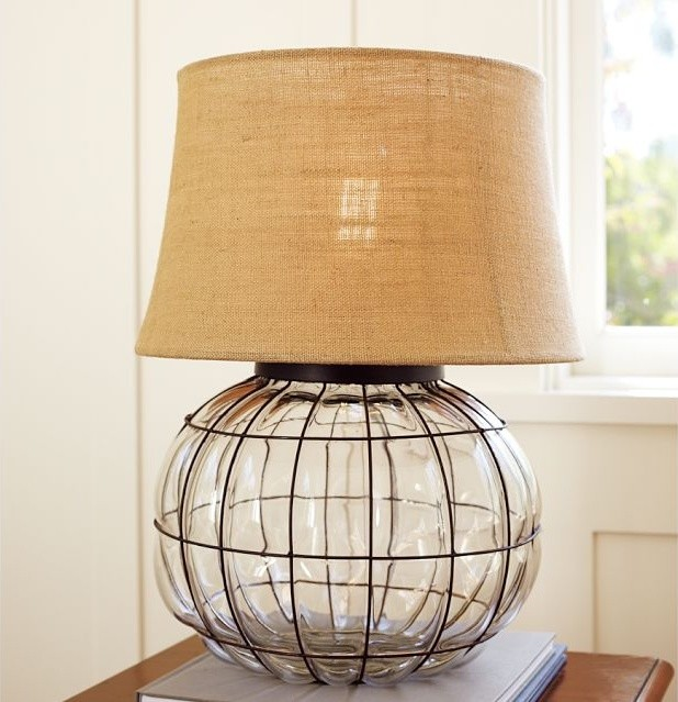 Caged Glass Table Lamp contemporary-table-lamps