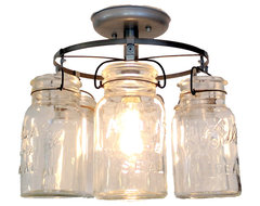 Vintage Mason Jar Ceiling Light farmhouse-ceiling-lighting