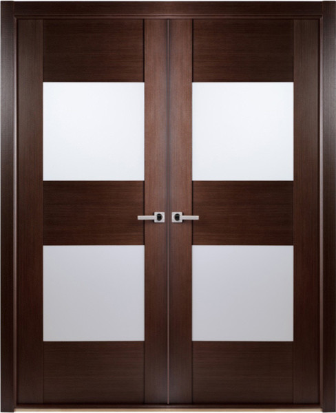 ... Interior Double Door with Frosted Glass contemporary-interior-doors