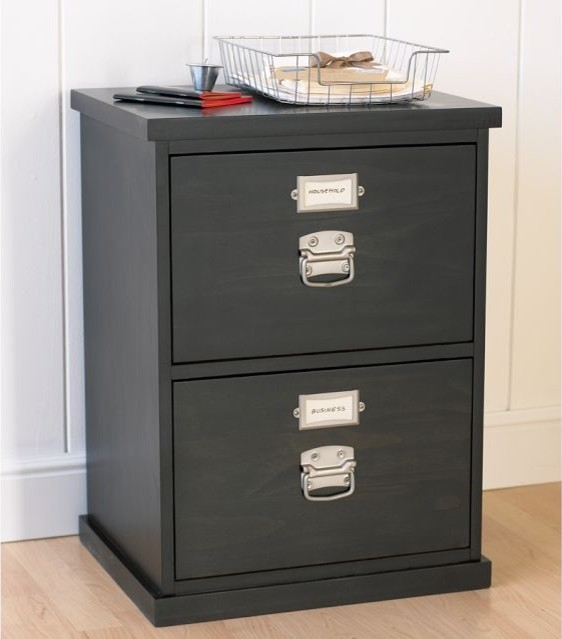 Bedford 2-Drawer File Cabinet - Traditional - Filing Cabinets - by Pottery Barn