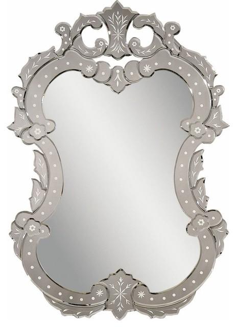 Bassett Mirror Old World Venetian II Wall Mirror in Venetian Glass contemporary-wall-mirrors