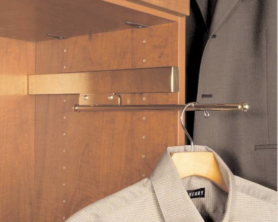 Closet Factory cool closet accessories - Valet rods are a necessity for all closets.  Perfect to hang your outfit for tomorrow, dry cleaning, robe or any item you are not ready to hang up.
