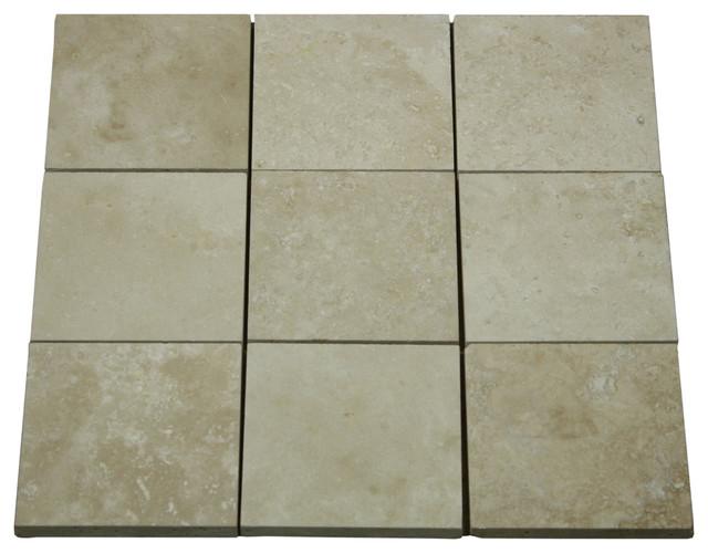 "Elegant Durango 4"" x 4"" Travertine Tile traditional"
