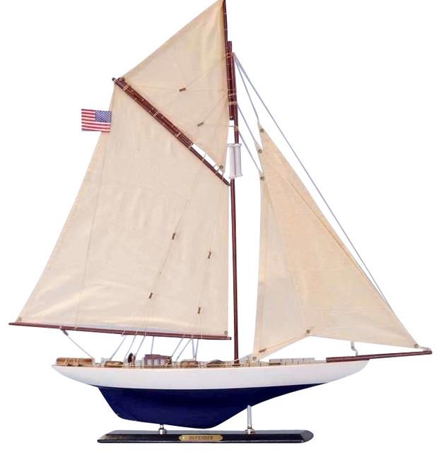 Defender Limited 25 39 39 Sailboat Decoration Model Boat