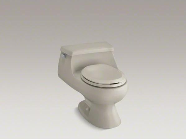 KOHLER Rialto(R) one-piece round-front 1.6 gpf toilet with Rim Jet flush technol contemporary-toilets