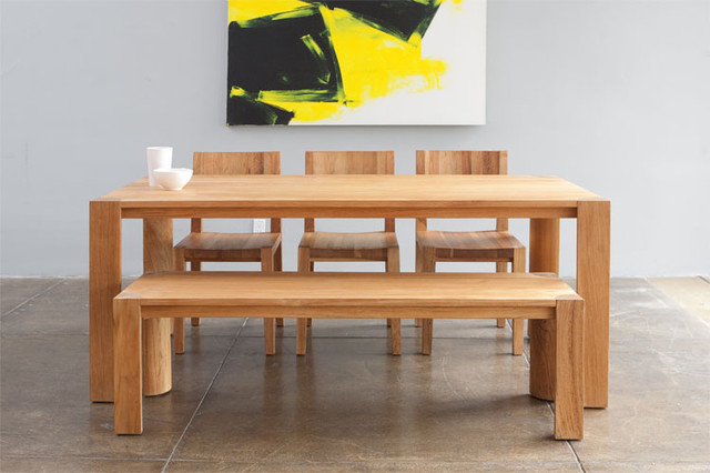 Mash Studios Pchseries Dining Table And Bench Modern
