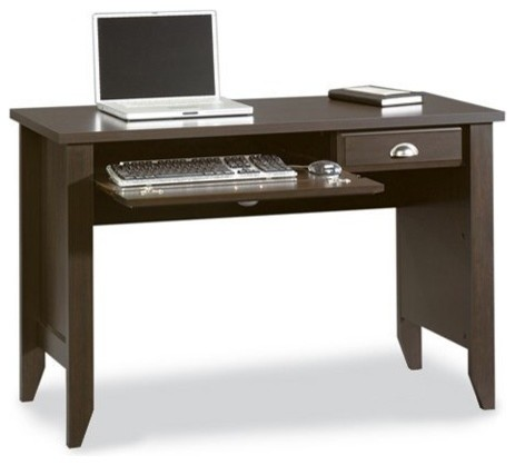 Sauder Shoal Creek Computer Desk, Jamocha Wood traditional-desks-and-hutches