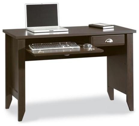 Sauder Shoal Creek Computer Desk, Jamocha Wood traditional-desks