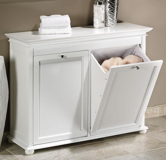 Hampton Bay Double Tilt Out Hamper Traditional Laundry Baskets By Home Decorators Collection
