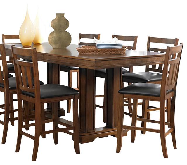 Homelegance Ameillia 7pc Rectangular Counter 187 Homelegance  : traditional dining sets from vintiqueshomedecor.com size 640 x 564 jpeg 95kB