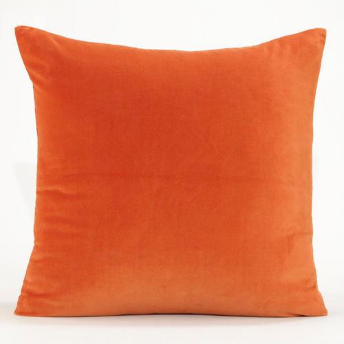 Contemporary Throw Pillows: Gold Flame Velvet Throw Pillow