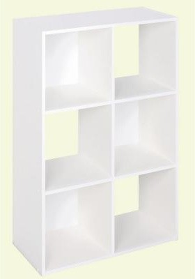 Martha Stewart Living 36 In X 24 In White Stackable 6 Cube Organizer 4905