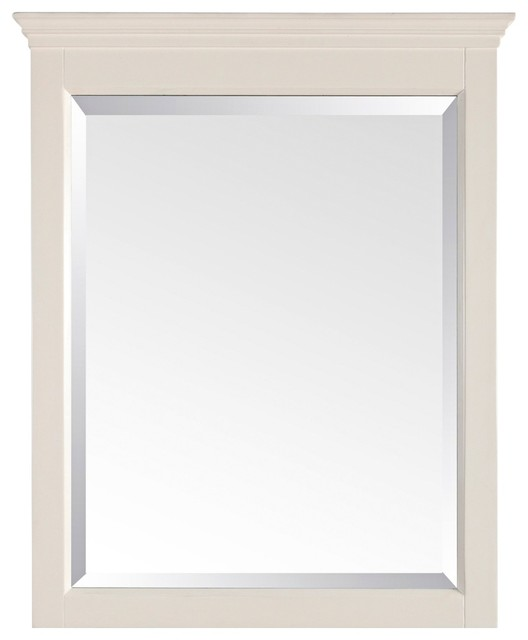 """Country - Cottage Tropica Antique White 32"""" High Tall Wall Mirror farmhouse-wall-mirrors"""