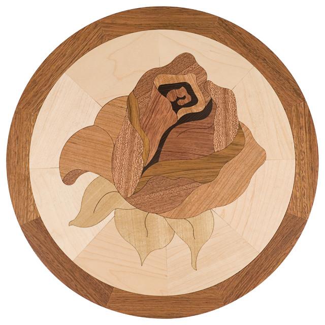 Oshkosh designs bellarosa inlay deco contemporary for Wood floor medallion designs