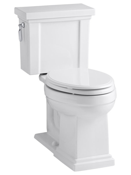 KOHLER - KOHLER K-3950 Tresham Comfort Height Two-Piece Elongated 1.28 GPF Toilet - KOHLER Tresham Comfort Height two-piece elongated 1.28 GPF toilet with Class Five flush system and left-hand trip lever