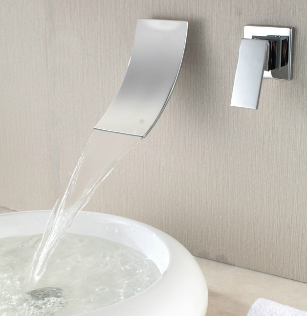 New Wall Mount Waterfall Basin Faucet 8210a Chrome Finish