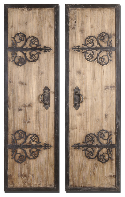 Abelardo Rustic Wood Panels Set/2 mediterranean-molding-and-millwork