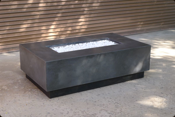 Square glass and wood coffee table - Concrete Fire Pits And Fireplace Surrounds Industrial Fire Pits