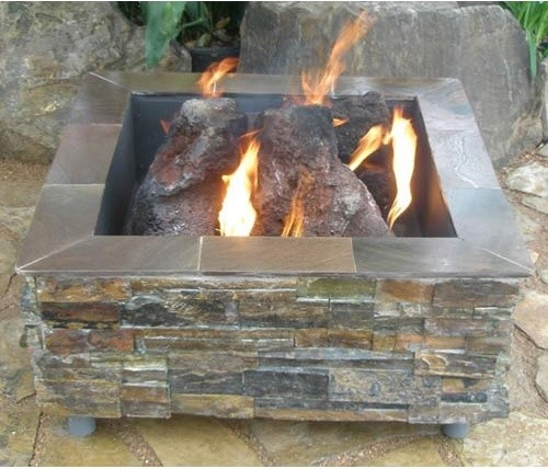 Virginian Square Fire Pit rustic-fire-pits