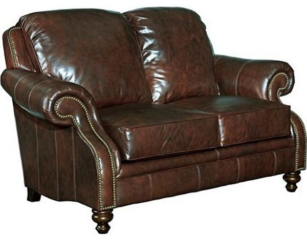 Broyhill Newland Leather Loveseat In Affinity Finish