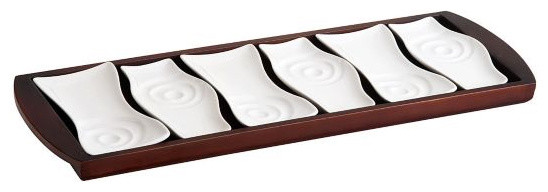 Contemporary Serving Trays by QVC, Inc.