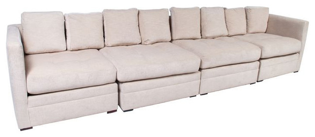 SOLD OUT!   Oversized Cream Chenille Modular Sofa - $4,000 Est. Retail - $2,000 sectional-sofas