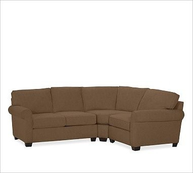 Buchanan Left 3-Piece Small Sectional with Corner Wedge, everydaysuede ...