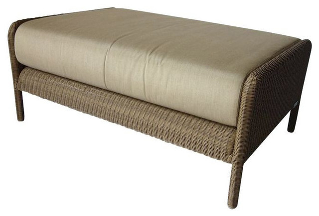 Tectona Ottoman by Christophe Delcourt - $2,800 Est. Retail - $1,475 on Chairish contemporary-footstools-and-ottomans