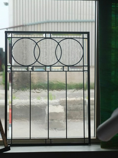 Leaded Glass Inserts for Cabinets contemporary-home-decor