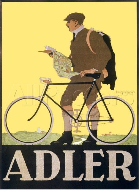Adler Bicycle Giclee Print eclectic-artwork