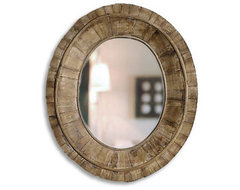 Pieced Wood Mirror traditional-mirrors