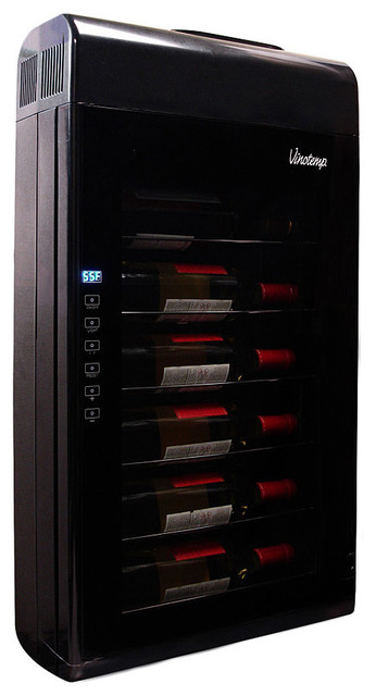 Vinotemp 6 Bottle Wall-Mounted Wine Cooler modern-beer-and-wine-refrigerators