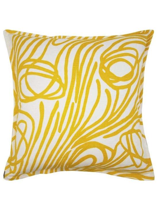 Lemon Rope Oyster Pillow -