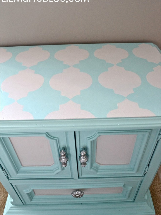 Stenciled Nightstand -