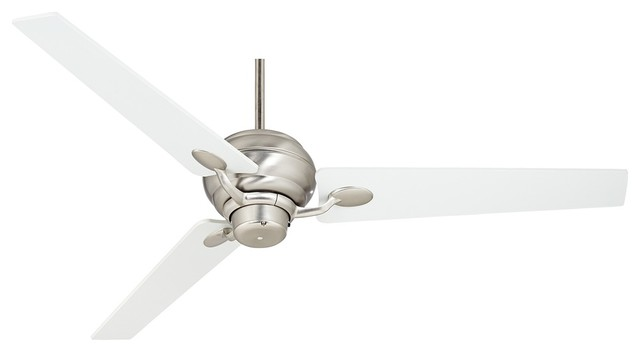 "Contemporary 60"" Spyder™ Brushed Steel Three Blades Ceiling Fan contemporary-ceiling-fans"