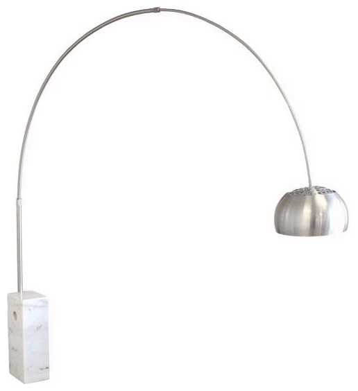 Arco Marble Floor Lamp White Round Tube Midcentury Floor Lamps By Macer Home Decor Inc