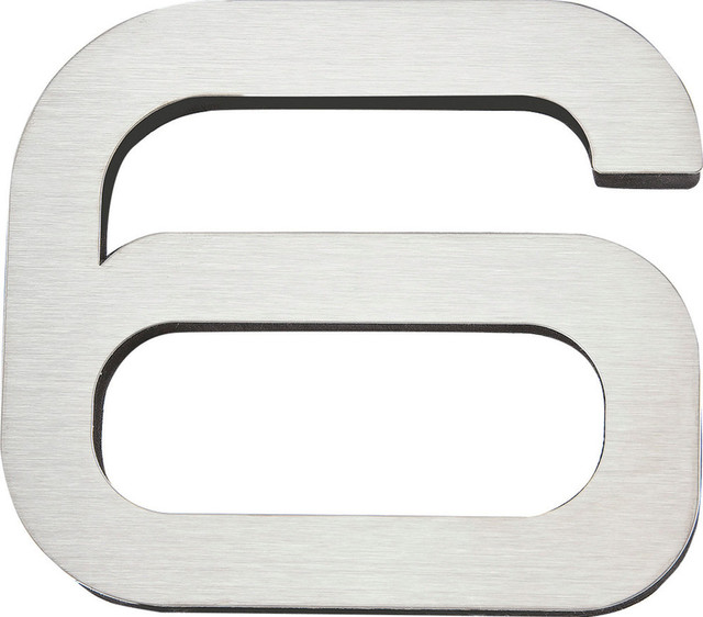 Atlas Homewares Pgn6 Ss 4 Inch Paragon House Number 6 In