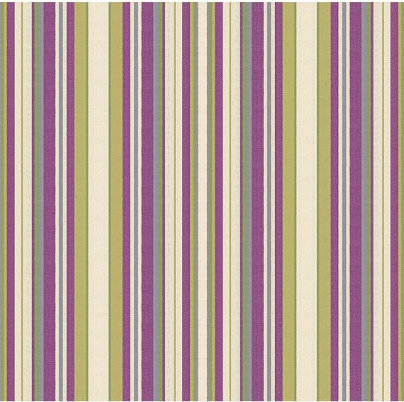 Purple Amp Green Stripe Woven Fabric Contemporary