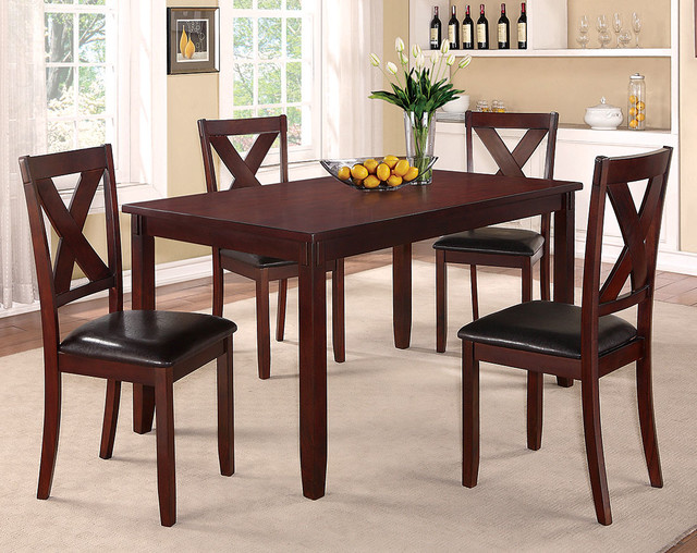 Clara 5 piece dining set traditional dining room for American furniture dinette sets